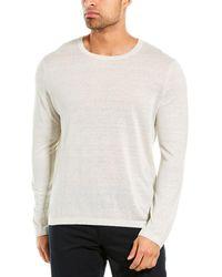 Theory Berthos Linen-blend Crewneck Sweater - White