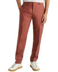 Club Monaco Grant Linen Trouser - Red