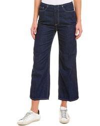 AG Jeans Etta Mts High-rise Wide Crop - Blue