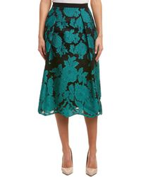 ESCADA Silk-blend A-line Skirt - Green