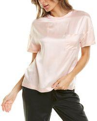 Badgley Mischka Pocket Silk Top - Pink