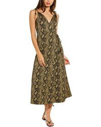 Solid & Striped Snake Maxi Dress - Green