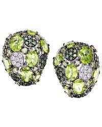 Roberto Coin 18k 2.24 Ct. Tw. Diamond & Peridot Drop Earrings - Green