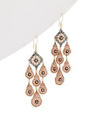 Miguel Ases - 14k Gold Filled Crystal Drop Earrings - Lyst
