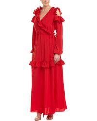 Pinko - Ruffle Maxi Dress - Lyst