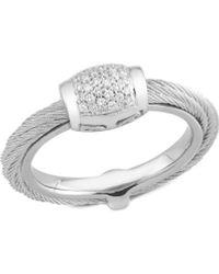 Alor Classique 18k & Stainless Steel 0.14 Ct. Tw. Diamond Ring - Metallic