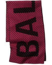 Balenciaga Logo Wool Scarf - Black