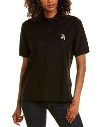 Burberry Pique Polo Shirt - Black