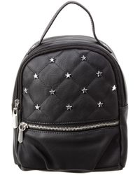Circus by Sam Edelman Jordyn Convertible Quilted Backpack With Studded Stars - Black