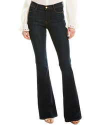 FRAME Denim Stretch Navy Flare Leg - Blue