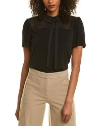 Cece By Cynthia Steffe Collared Top - Black