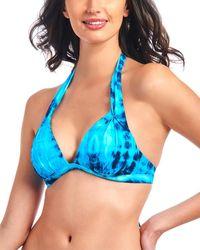 RACHEL Rachel Roy Halter Bikini Top - Blue