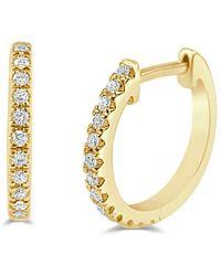 Sabrina Designs 14k 0.10 Ct. Tw. Diamond Huggie Earrings - Metallic