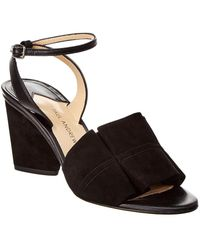 Paul Andrew - Odale 75 Suede Sandal - Lyst