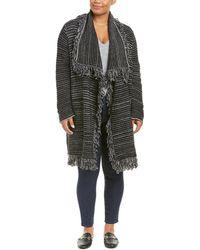NYDJ - Plus Fringe Wool-blend Car Coat - Lyst