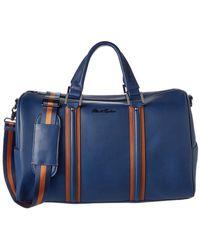 Robert Graham Chestertown Leather Duffle - Blue