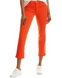 Hudson Jeans Barbara Jasper High-rise Crop Straight Leg Jean - Red