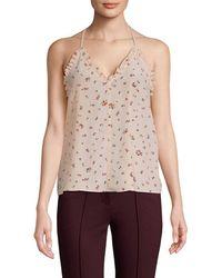 Rebecca Taylor Mia Silk Floral Camisole - Multicolour