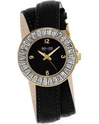 SO & CO Soho Crystal Watch - Black