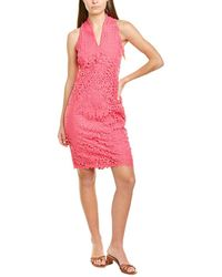 Alexia Admor Karyn Lace V-neck Sheath Dress - Pink