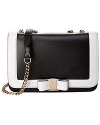 229f34994685 Lyst - Ferragamo Vara Quilted Leather Shoulder Bag in Black