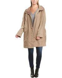 Cole Haan Plus Woven Rain Jacket - Natural