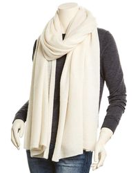 White + Warren Pearl White Cashmere Wrap