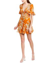 Nicholas Floral Silk Minidress - Orange