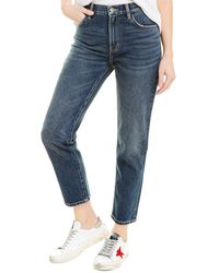 Current/Elliott The Vintage 1 Year Worn Rig Cropped Slim Leg - Black