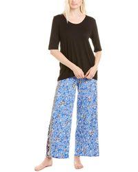 Ellen Tracy 2p Pajama Pant Set - Multicolor