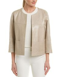Lafayette 148 New York - Crackle Leather Jacket - Lyst