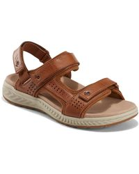 Earth Mira Azore Leather Sandal - Brown