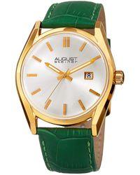 August Steiner Women's Leather Watch - Metallic