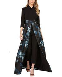 Kay Unger 3/4- Sleeve Jumpsuit - Black