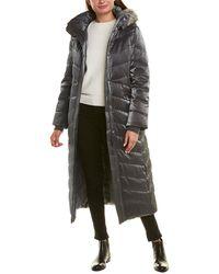 Badgley Mischka Iridescent Maxi Puffer Coat - Black