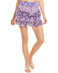 Ramy Brook Tia Mini Skirt - Purple