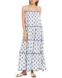 Tessora Lolita Strapless Midi Dress - White