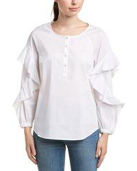 Splendid Ruffle Shirt - White