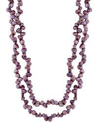 Splendid 3-6mm Freshwater Pearl 72in Necklace - Multicolour