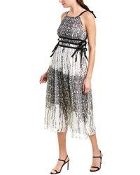 Max & Moi Silk Midi Dress - Black