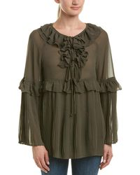 Romeo and Juliet Couture Pleated Top - Green