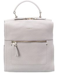 Fiorelli Anna Leather Backpack - Gray