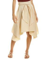 Forte Forte Gypsy Linen-blend Wrap Skirt - Brown