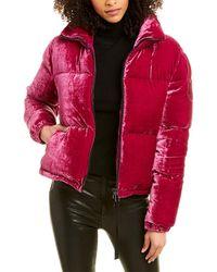 Moncler Rimac Velvet Down Jacket - Pink