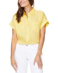 NYDJ Linen Camp Shirt - Yellow