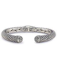 Samuel B. Silver Bangle Bracelet - Metallic