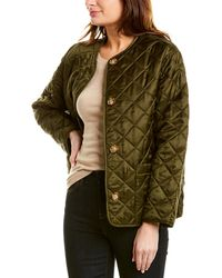 Burberry Logo Quilted Jacket - Green