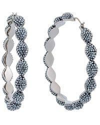 Swarovski Crystal Moselle Ruthenium Plated Earrings - Multicolour