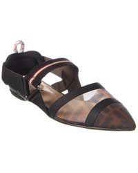 Fendi Colibrì Ff Motif Slingback Ballerina Shoes - Multicolour