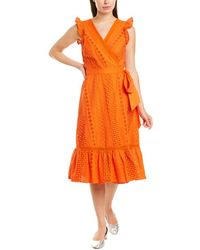 J.Crew Wrap Dress - Orange